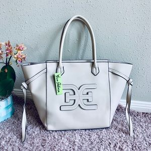 Sam Edelman Eleanor Logo Tote Bag/Ivory/OS/NWT